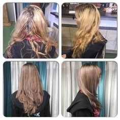 Before and after by Heather at The Springs Salon and Spa.