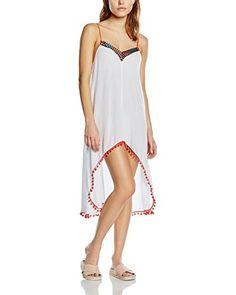 MINKPINK Vestido Great White Embellished Peak Hem Dress Multicolor L