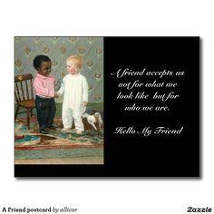 A Friend postcard