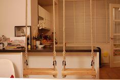 Schommel In Huis : Beste afbeeldingen van grotemensen schommels van puur hout touw