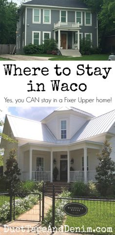 Where to stay in Waco, Texas, best hotels, hotels close to Magnolia Market, and homes featured in Fixer Upper DuctTapeAndDenim.com