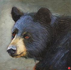 A Bearly Glance by Linda Wilder Acrylic ~ 12 x 12 Bear Paintings, Aboriginal Artwork, Bear Drawing, Deer Art, Bear Pictures, Pet Rocks, Mountain Paintings, Canadian Art, Cute Bears