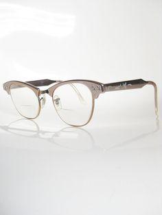 c7fe5393598f Vintage ART CRAFT Eyeglasses Copper Cat Eye 1950s Rockabilly Ladies Womens  Glasses Mid Century Optical Frames