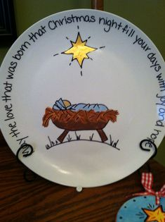 hand painted christmas plates - Bing images