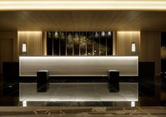 Congratulations to ILYA Corporation who have been shortlisted for an Asia Pacific Hotel Over 200 rooms award - The Design Society Lobby Interior, Home Interior, Interior Lighting, Interior Decorating, Interior Design, Hotel Reception Desk, Reception Desk Design, Reception Counter, Hotel Room Design
