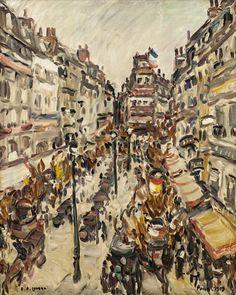 Aukční tip - Emil Artur Pittermann (Longen), PARIS  Fauvistická - temperamentní a svěží Longenova Paříž...  Olej na plátně, 81 x 65,5 cm, rámováno, datace 1919, signováno vlevo dole A. P. Longen, vpravo dole Paris - 1919. Opatřeno odborným posudkem PhDr. Jaromíra Zeminy. Painting, Art, Art Background, Painting Art, Paintings, Kunst, Drawings, Art Education