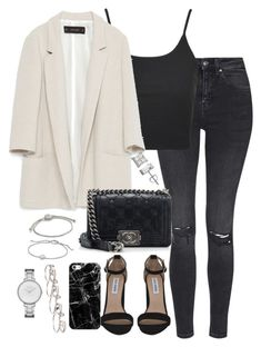 """Untitled #5206"" by theeuropeancloset ❤ liked on Polyvore featuring Topshop, Zara, Chanel, Steve Madden, David Yurman, John Hardy, Casetify, Maison Margiela and Skagen"