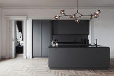 Black on Black on Behance House Design, Kitchen Design Small, Black Kitchens, Interior, Showroom Interior Design, Interior Design Trends, Modern Kitchen Design, Interior Design, Luxury Kitchen Design