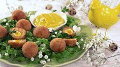 Scotch eggs de farinheira e ovos de codorniz com maionese de caril - Prato do Dia 2   24Kitchen