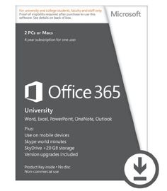 Amazon.com: Microsoft Office 365 University 4-year Subscription (Student Validation Required) [Download]: Software