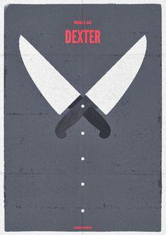 Dexter's knives -We started watching the sixth season of Dexter last night- I dig! Minimal Movie Posters, Minimal Poster, Cool Posters, Retro Posters, Michael C Hall, Film Images, Dexter Morgan, Cinema, Illustrations
