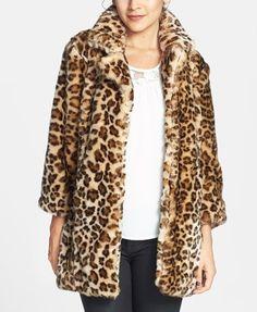 Fall trend   Leopard print faux fur coat