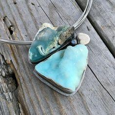 Sterling Silver Hemimorphite Necklace By Wild Prairie Silver Jewelry #silverjewelry