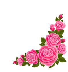 Free Vector | Border of roses vector 1952374 - by Johnny-ka on VectorStock®