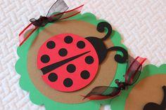 LadyBug Birthday Party Banner by handmadewithlovnessa on Etsy https://www.etsy.com/listing/197643347/ladybug-birthday-party-banner