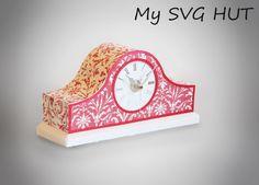 3D SVG Mantle Clock DIGITAL download by MySVGHUT on Etsy