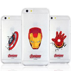 Authentic Avengers Clear Case iPhone 6 Case iPhone 6 Plus Case 6 Types Hard Case #Marvel
