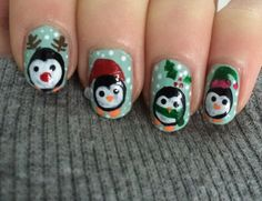 Nail art kerst