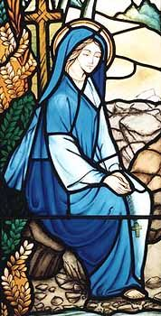 St. Winifred, from Stained Glass at her Well