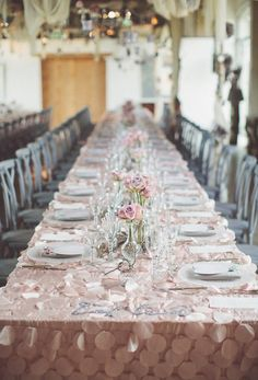 Rose Quartz Blush Pink Wedding Reception Decorations_Chris Spira Photography