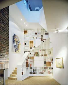 Beautiful staircase shelves