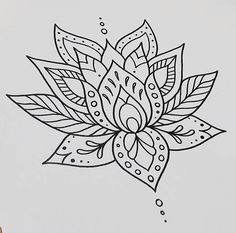 LOTUS FLOWER Tattoo drawing/design @ nicptattoo on Instagram
