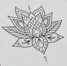 LOTUS FLOWER Tattoo drawing/design @ nicptattoo on Instagram