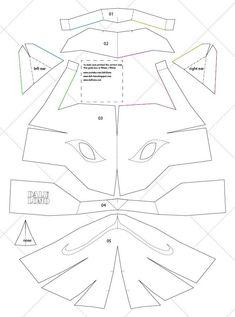 Naruto Kakashi Anbu Mask - & Letter Size PDF Template (Ready to Print) Child + Adult Size Instruções Origami, Paper Crafts Origami, Origami Naruto, Cosplay Tutorial, Cosplay Diy, Mascara Anbu, Kakashi Anbu Mask, Naruto Kakashi, Cardboard Mask