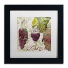 """Trademark Art 'Wine Cellar I' by Color Bakery Framed Painting Print Size: 11"""" H x 11"""" W x 0.5"""" D, Mat Color: White"""