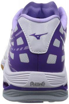 MIZUNO Volleyball shoes WAVE LIGHTNING Z MID V1GA1500 White X black X  lavender f90d499f2cc9a