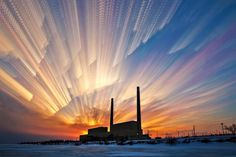 Power Plant by Matt Molloy on 263 photos merged into one image Man Photo, Photo Look, Fine Art Photo, Photo Art, Photo Merge, Time Lapse Photo, Moving Clouds, Spotlights, Landscape Photographers