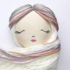 Rag Doll Fabric Dolls Cloth Dolls Handmade by littlewildwooddolls