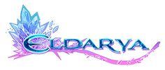 Cristal azul e violeta, logotipo do jogo Eldarya