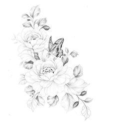 Feminine Tattoos, Unique Tattoos, Beautiful Tattoos, Small Tattoos, Hip Tattoos Women, Shoulder Tattoos For Women, Sleeve Tattoos For Women, Rose Tattoos, Body Art Tattoos