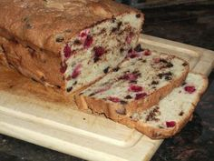 Chocolate Chip Cranberry Bread (Wheat, Gluten, Dairy, Peanut, Tree Nut, Soy Free)