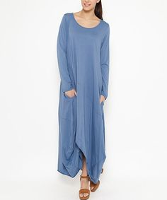 Another great find on #zulily! Blue Pocket Maxi Dress #zulilyfinds