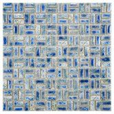 Found it at Wayfair - EliteTile Arcadia Random Sized Porcelain Weave Mosaic Tile in Neptune Blue