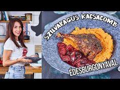 A ropogósra sült kacsacomb mellett a szilvaragu és az édesburgonya-püré is szuperül kiegészítik egymást, próbáljátok ki ti is! Turkey, Make It Yourself, Cooking, Kitchen, Tej, Youtube, Food, Street, Drinks