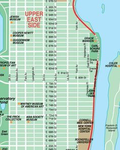upper east side new york city streets map street location maps of nyc sights museums shopping tours arts and theatres from mustseenewyorkcom