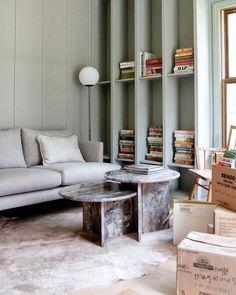 Mandi Johnson (@mandimakes) • Instagram photos and videos Painted Furniture, Modern Furniture, Gold Floor Lamp, Plywood Boxes, Wall Bookshelves, Scandinavian Furniture, Painted Boxes, High Quality Furniture, Open Shelving