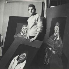 Francis Bacon in his studio by Cecil Beaton, 1960