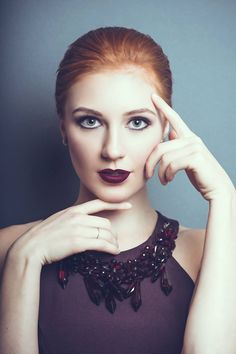 Facial proportions #Redhead #Model #Beauty #Make up