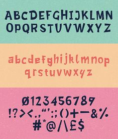 Lost Childhood Free Font Letters