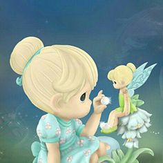 """Precious Moments """"Our Friendship Is Magical"""" Tinker Bell Figurine Precious Moments Wedding, Disney Precious Moments, Precious Moments Quotes, Precious Moments Coloring Pages, Precious Moments Figurines, Tinkerbell And Friends, Tinkerbell Disney, Tinkerbell Fairies, Disney Fairies"""