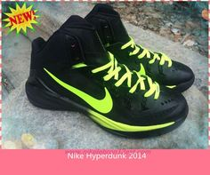 sneakers for cheap 8f079 4a08c Black   Fluorescent Green 653640-511 Nike Hyperdunk 2014 For Wholesale Nike  Lebron, Basketball