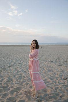 Coudre une robe bohème chic maxi en double-gaze / Conseil couture et blog couture / Some place called home