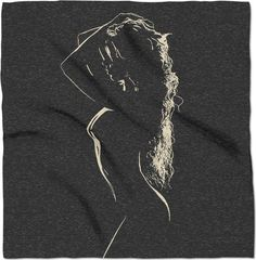 Sensual in black and white, sexy girl stencil erotic, hot body woman bandana, adult content warning, kinky nude  - item printed at www.rageon.com/a/users/casemiroarts, also available at www.casemiroarts.com #scarf #bandana #kerchief #design #style #fashion #accessories