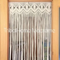 Macrame curtain large cotton macrame for door and window Boho Chic, Hippie Chic, Bohemian Curtains, Raw Color, Macrame Curtain, Boho Life, Macrame Projects, Micro Macrame, Cheap Home Decor