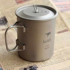 Keith Titanium Folding Portable Mug Cup Travel Hiking Camping Outdoor 450ml62g KS810 * You can find more details by visiting the image link.