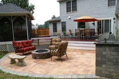 deck and patio combinations | ... Maryland Custom Outdoor Builder - Decks, Porches, Patios, and More